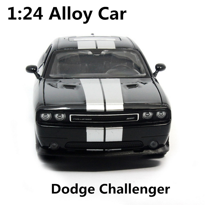 1:24 alloy car,high simulation model cars dodge challenger, metal diecasts, coasting, the childrens toy vehicles, free shipping ...