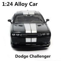 1:24 alloy car,high simulation model cars dodge challenger, metal diecasts, coasting, the children's toy vehicles, free shipping