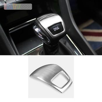 Carbon Fiber Car Interior Gear Shift Knob Cover Trim For Skoda Kodiaq 2017-2019