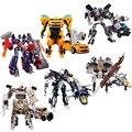 Edição genuine 27 cm optimus prime megatron transformação robots voyager figuras de ação brinquedos clássico para presentes do menino