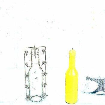Бутылка стиль свеча плесень высота 23,5 мм Напиток Бутылка Свеча «сделай сам» модель пластик материал ручной работы оригинальность свечи