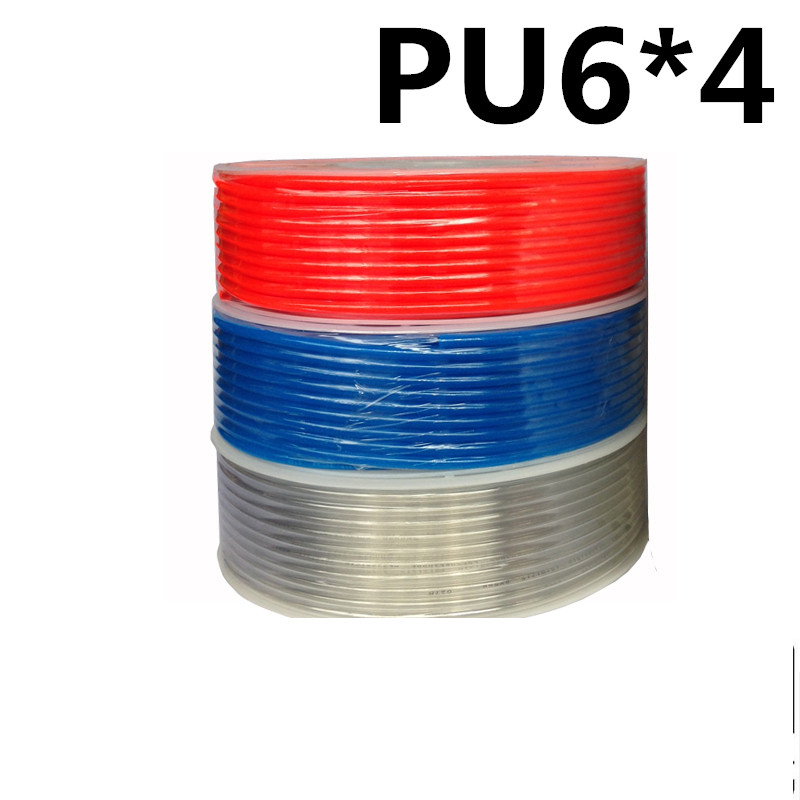 PU6*4 200m/roll PU tube 6*4mm air pipe to air compressor pneumatic component red mobile air compressor export to 56 countries air compressor price