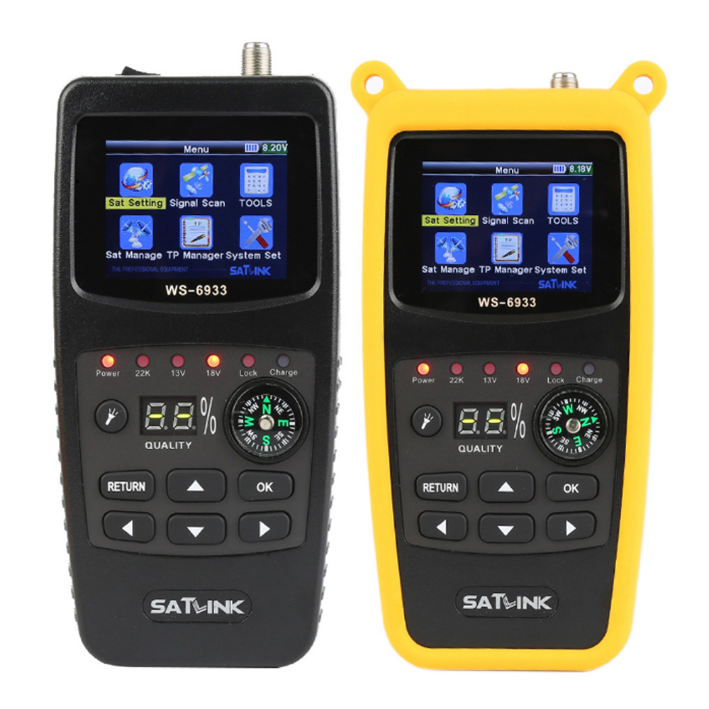 Original Satlink WS-6933 Satellite Finder DVB-S2 FTA CKU Band Satlink Digital Satellite Finder Meter WS 6933 Free Shipping