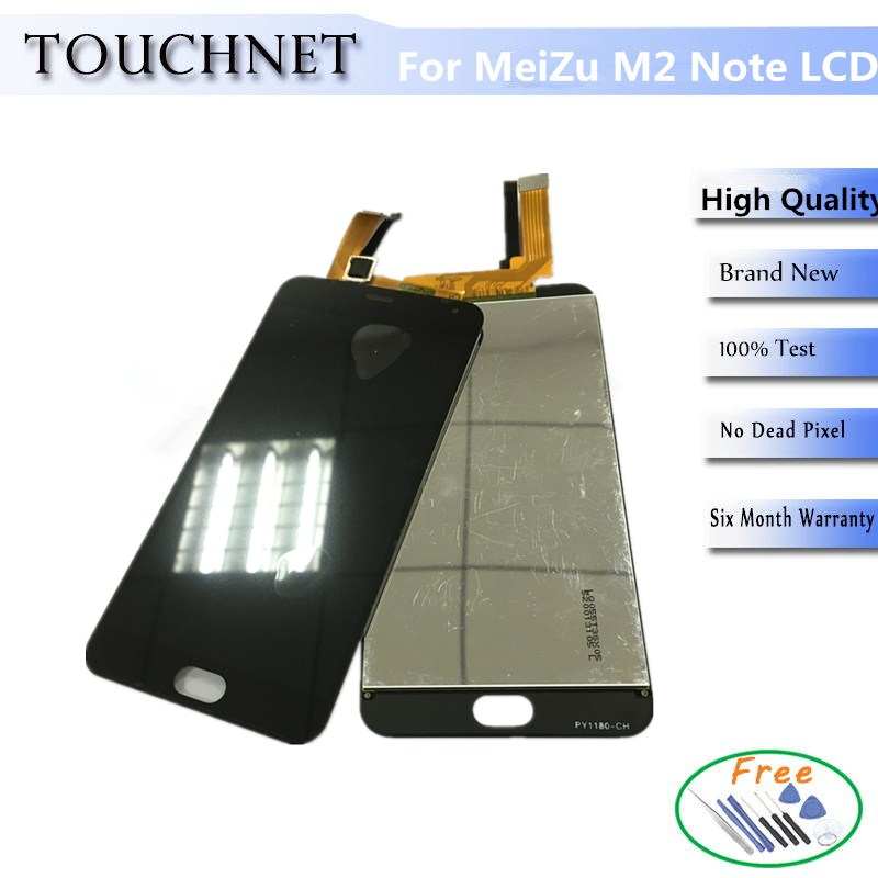10 Unids/lote Pantalla LCD Para Mezu M2 Nota Meilan Nota 2 Con Pantalla Táctil D