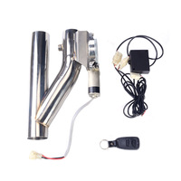 High Performance 2 Inch Stainless Steel Headers Y Pipe Electric Exhaust Catback CutOut Kit With Remote