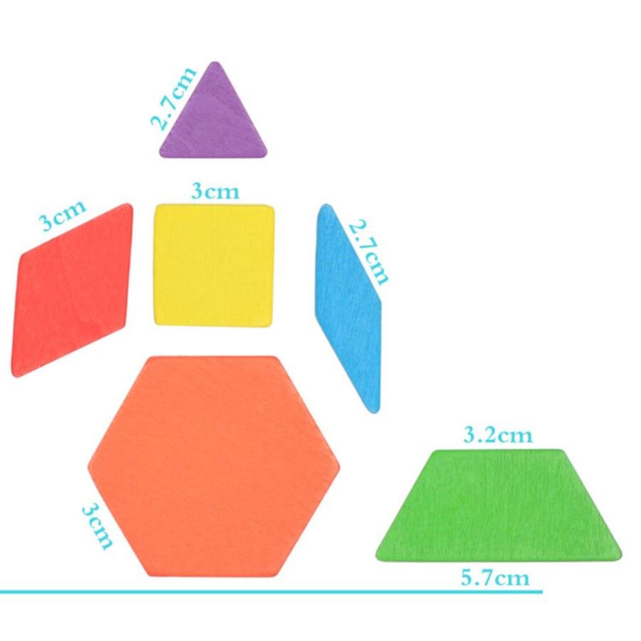 Деревянные игрушки головоломки логические головоломки Пазлы для детей Tangram заготовки древесины фигурки Stikeez развивающие игрушки деревянны...