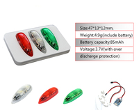 3pcs Lot EasyLight LED V2 Version Wireless RC Navigation Light Red Green White Fixed Wing LED