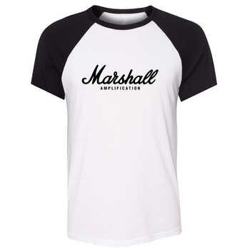 Camiseta de manga corta raglán para hombre, camiseta informal de verano Unisex, con estampado artístico de guitarra y amplificadores