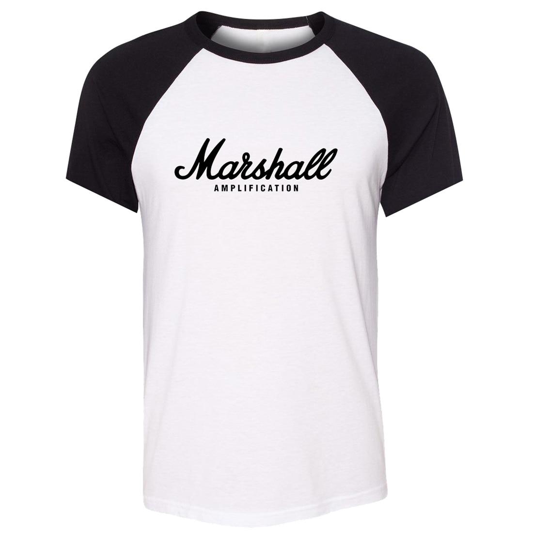 b37a1cd0680 Raglan Short Sleeve Men T shirt MARSHALL Amps Amplifiers Amplification  Guitar Art Pattern T shirt Unisex Summer Casual Tee Tops-in T-Shirts from  Men s ...