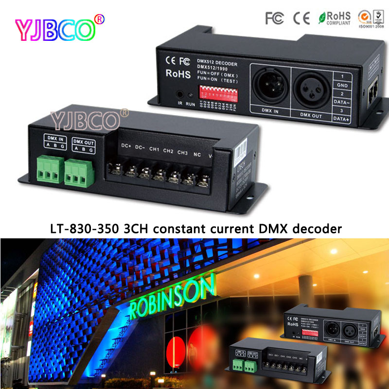 LT-830-350 3CH constant current DMX/PWM decoder;DC12V-DC48V input;350mA CC*3CH output led controller for rgb strip/light/lamps elplp13 v13h010l13 compatible bare lamp for epson powerlite 50c 70c emp 50 emp 70 projector