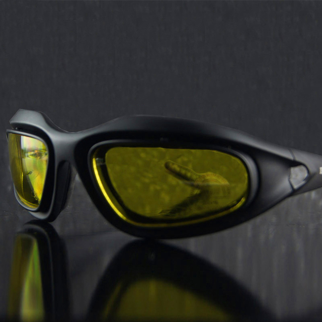 9094804e034 NEW2017 C5 Army Goggles Desert Storm 4 Lens Outdoor Sports Hunting Military  Sunglasses Anti UVA UVB War Game Motorcycle Glasses