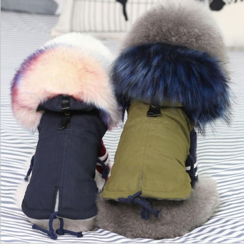 Luxury Black Pet Dog Coat Winter Very Warm Small Dog Clothes For Chihuahua Soft Fur Hood Puppy Jacket Clothing