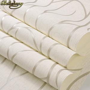 Image 3 - Beibehang papelデparede 3dフローリングストライプ曲線の壁紙 3 dためのリビングルームのベッドルームの壁紙現代
