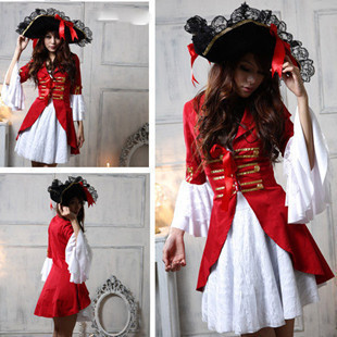 LADIES WOMEN BUCCANEER CARIBBEAN PIRATE SAILOR COSTUME OUTFIT FANCY DRESS PARTY