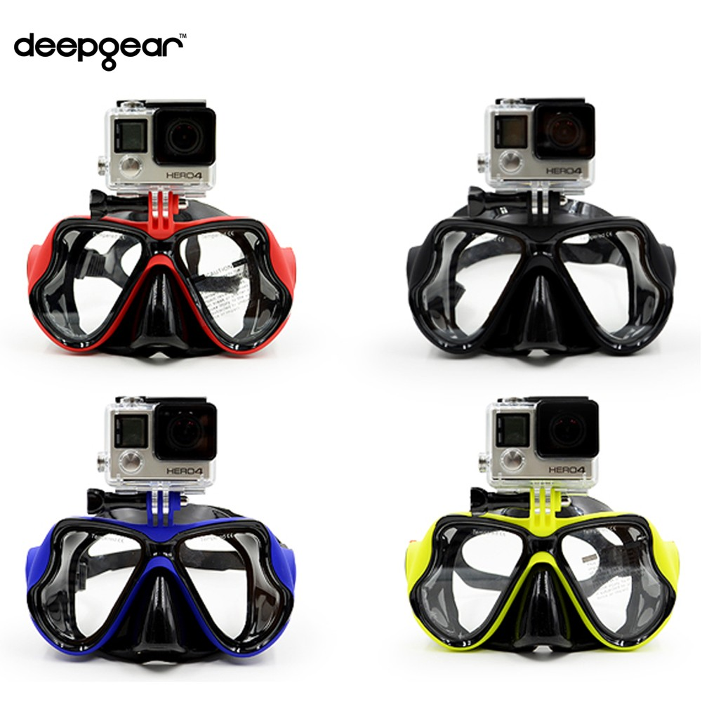 Top scuba font b diving b font mask to Gopro hero XIAOMI YI SJ CAMERAS Black