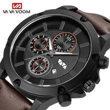 цена на Luxury Brand Mens Watches Military Sports Men Watch Quartz Date Clock Casual Leather Waterproof Wrist Watch Relogio Masculino