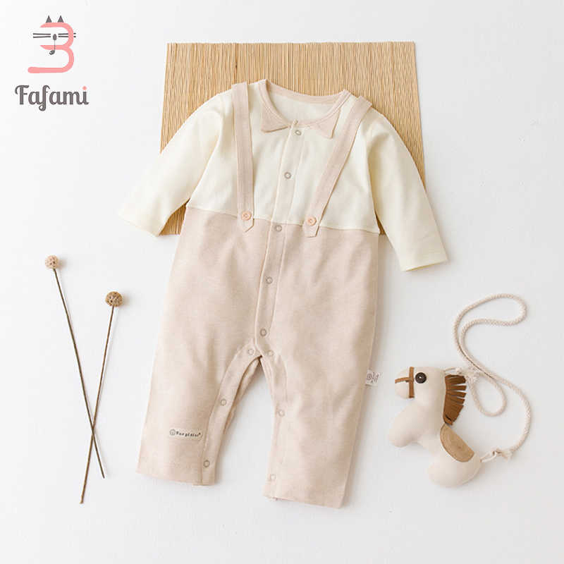6d48f3685 Baby Clothing Organic Cotton Baby Bib Rompers Patchwork Newborn Baby Clothes  Lucky child baby boy girl