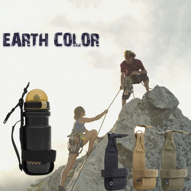 City Portable Nylon Army Tactical Military Spring Mouth Water Durable Bag for Bottle Adjustable Hiking Camping Package