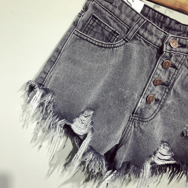 female fashion casual summer cool women denim Shorts high waists fur-lined leg-openings Plus size sexy short Jeans 5