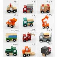 12 Pcs/Lot Thomas And Friends Train En Bois Ensemble Complet De mon mignon petit cars Jouet Moteur de voiture poni Toys