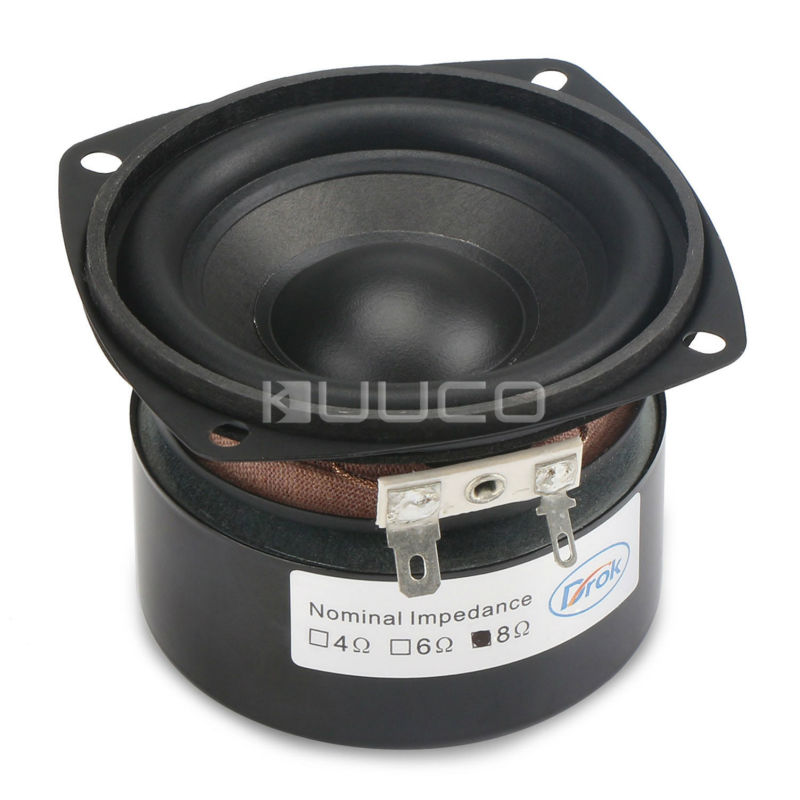 25W Shocking Bass Speaker 3 Inches 4 Ohms Square Speaker/Woofer Speaker Hi-Fi Stereo Loudspeaker DIY Mini Stereo Box Accessories