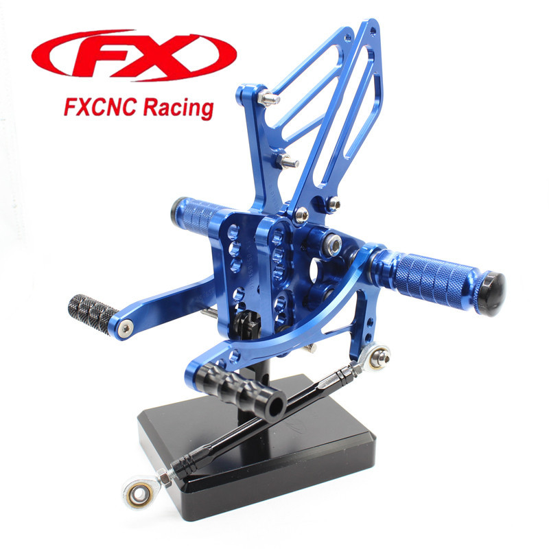 FX CNC Aluminum Adjustable Motorcycle Rearsets Rear Set Foot Pegs Pedal Footrest For SUZUKI GSXR1000 K5 K6 2005 - 2006