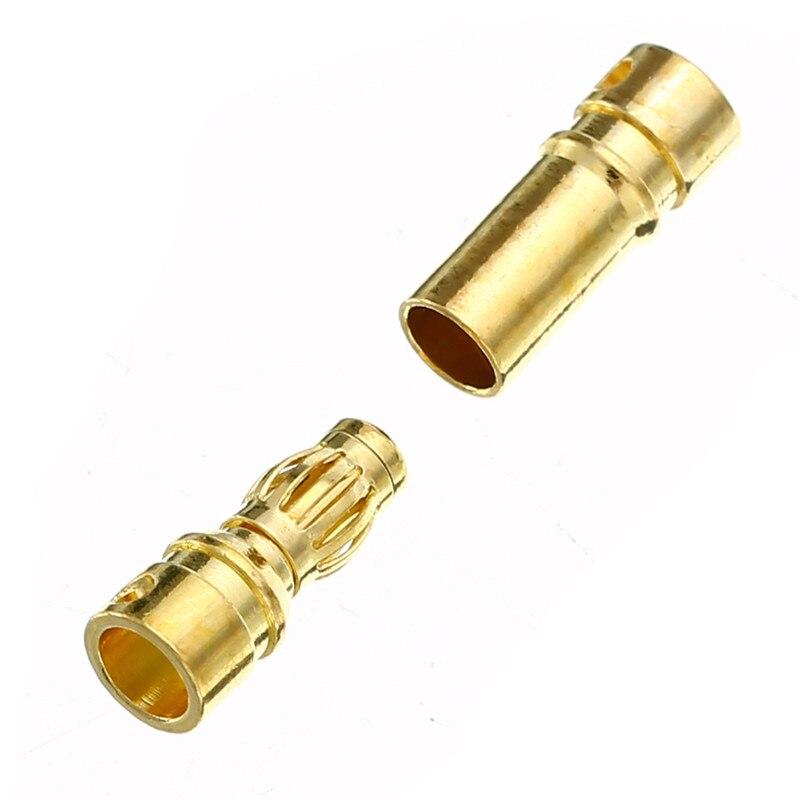 10 пар(= 20 шт./лот) 3,5 мм позолоченный мужской женский типа Пуля банан разъем для ESC батареи двигателя