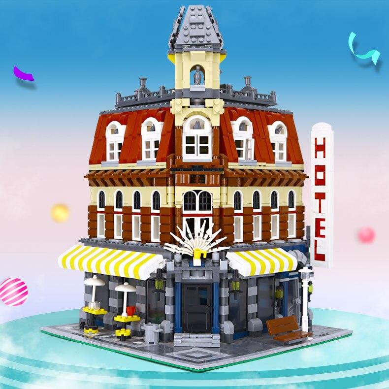 DHL 15002 2133 Pcs Stad Serie Compatibel Met 10182 Cafe Hoek Set Model Bouwstenen Bakstenen Kinderen Speelgoed Model Kerst gift-in Blokken van Speelgoed & Hobbies op  Groep 1