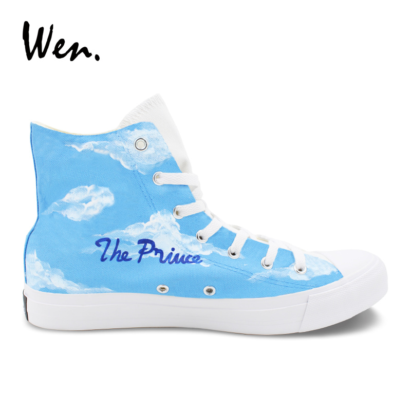 Wen Design Hand Painted Anime Sneakers The Prince of Tennis High Top Girl Canvas Shoes Boy Sports Shoes Gifts