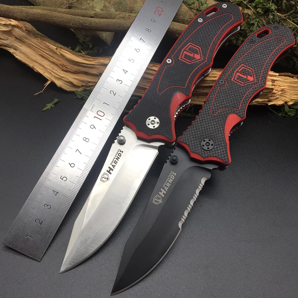 Harnds CK7006 Blazer Folding Knife 9Cr18MoV Blade G10 Handle Outdoor Survival Camping Bushcraft Military EDC Multitool Knife