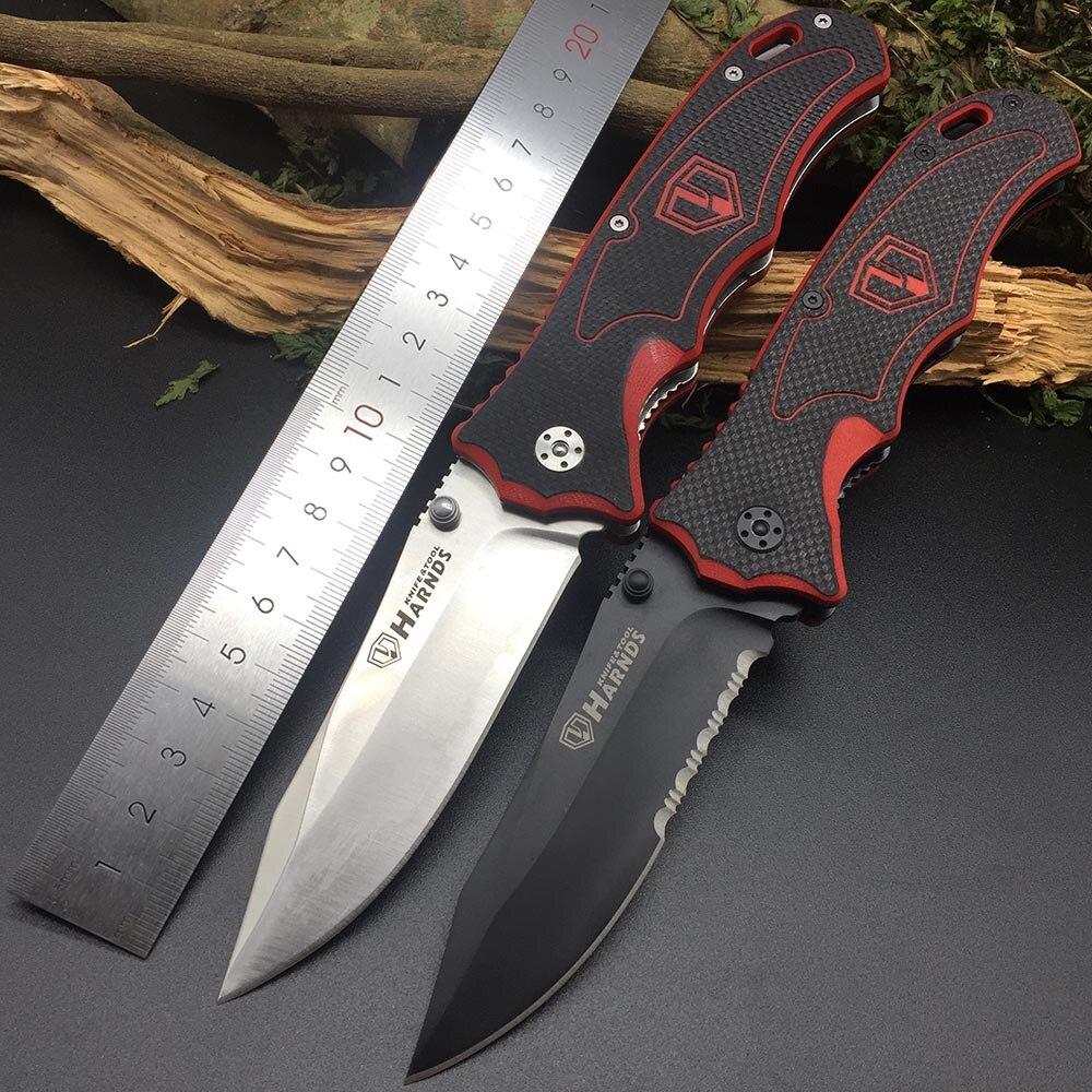 Harnds CK7006 Blazer Pliant Couteau 9Cr18MoV Lame G10 Poignée de Survie En Plein Air Camping Bushcraft Militaire EDC Outil Multi Couteau