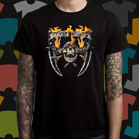 New Megadeth Metal Rock Band Logo Men S Black T Shirt Size S To 3XL Mens