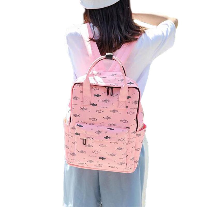 Große Für Teile Harajuku Taschen Leinwand los Frauen Neue Jugendliche Cartoon Schule Fisch Qualität Kapazität Hohe Rucksäcke 50 Mädchen Rucksack 8aHdqa