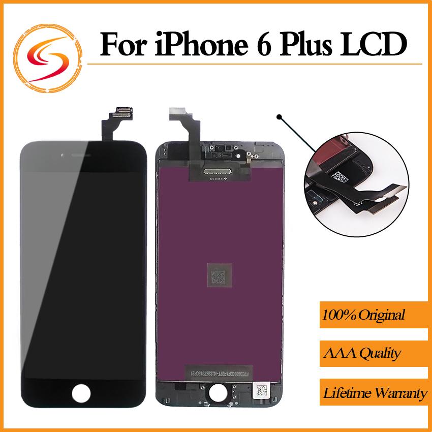 Prix pour AAA + + + 20 PCS/LOT Pour iPhone 6 Plus LCD 5.5 Pouce Avec L'écran Tactile Garantie De Remplacement Affichage Livraison Gratuite