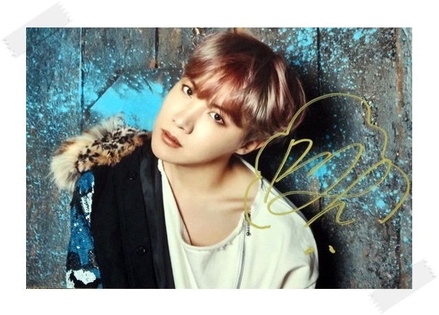 BTS 	J-HOPE autographed signed original photo You Never Walk Alone freeshipping  02.2017