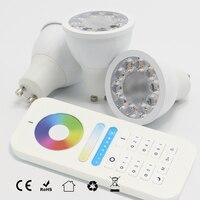 New AC110V 220V 2 4G RF 5W GU10 RGB CCT RGBWW LED Dimmable Wireless Led Bulb