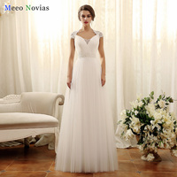 Luxury Lace Beach Wedding Dresses With Long Train 2017 Sweetheart Cap Sleeves Bridal Gowns Vestido De
