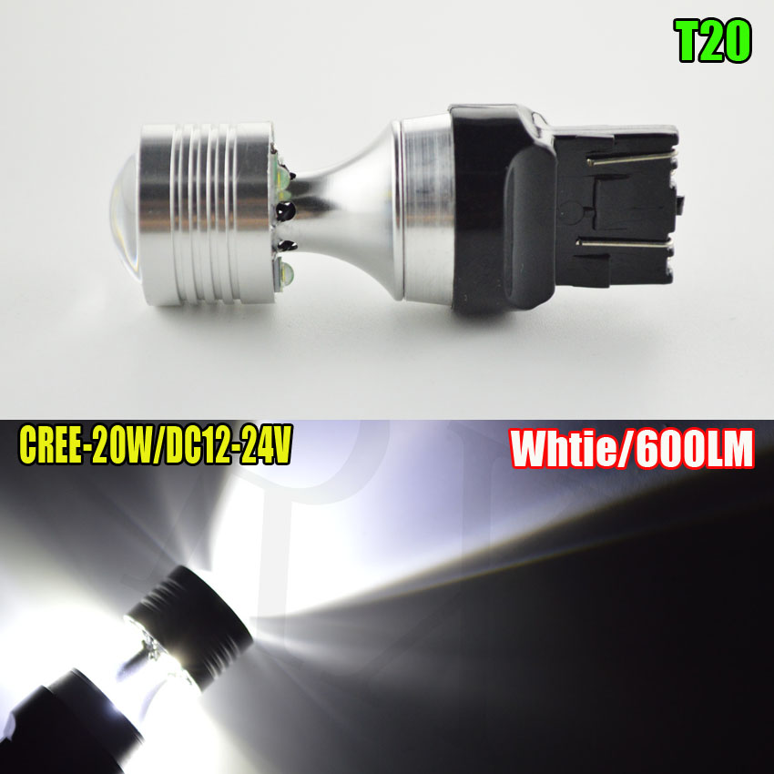 1pc/lot 20W T20 Led Canbus Free Error 7440 W21W 7443 w21/5w 4SMD LED 12-24V Car Auto tur signal lights white 30w amber orange canbus error free cree chips led t20 7440 w21w led car turn signal light bulb