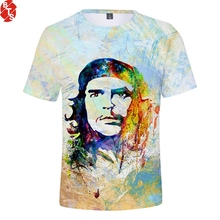 Che Guevara 3D Printed Fashion T-shirts Women/Men Summer Short Sleeve 2018 Casual Style Tshirts Trendy Streetwear Tee Shirts
