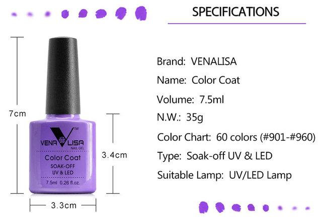 CANNI Nail Gel Polish High Quality Nail Art Salon 7.5ml Soak off Organic UV LED