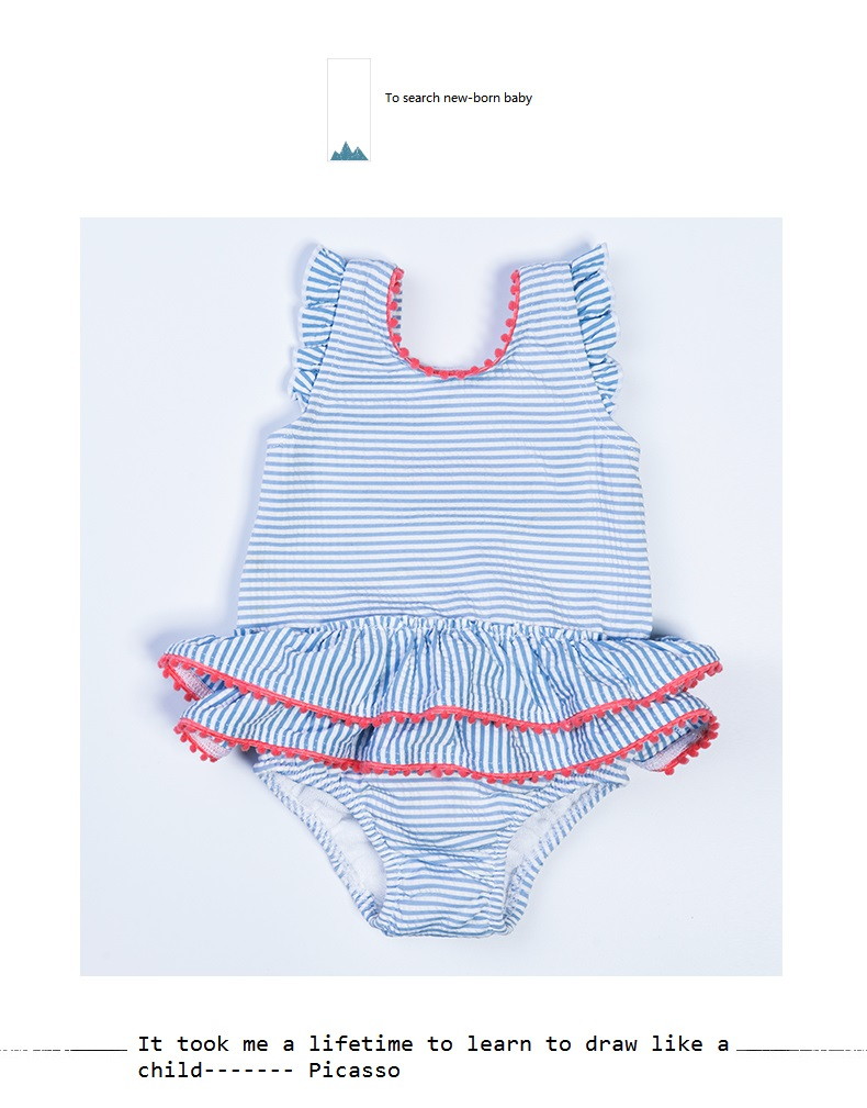 Swimsuit for Baby Girl with Bowknot