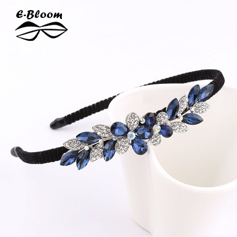 Alloy Rhinestone Bow Flower Butterfly Headband Cute Girls kids Women Blue Festival Fashion Hair Accessories Beautiful Headdress shanfu women zebra stripe sinamay fascinator feather headband fashion lady hair accessories blue sfc12441
