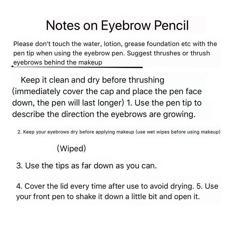 Waterproof Microbalding Eyebrow pen