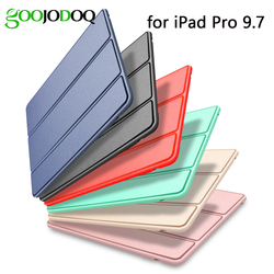For iPad Pro 9.7 Case Silicone TPU Soft GOOJODOQ Smart Cover for Apple iPad Pro 9.7 inch Case Funda 2016 A1673/A1674/A1675