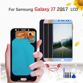 AMOLED/TFT LCD For Samsung Galaxy J7 Pro 2017 J730 SM-J730F J730FM/DS J730F/DS J730GM/DS Display Touch Screen Digitizer Assembly цена 2017