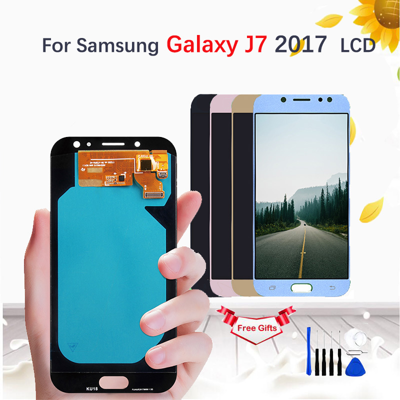 AMOLED/TFT LCD For <font><b>Samsung</b></font> <font><b>Galaxy</b></font> <font><b>J7</b></font> Pro <font><b>2017</b></font> J730 SM-J730F J730FM/DS J730F/DS J730GM/DS <font><b>Display</b></font> Touch Screen Digitizer Assembly image