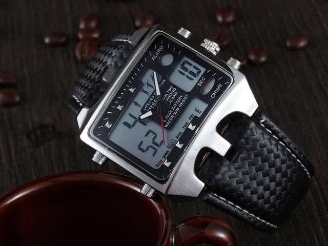 f11ba702538 placeholder OHSEN Analog Digital Men Sport Watches Backlight Reloj Hombre  Relogios Masculino Waterproof Genuine Leather Dress Wrist