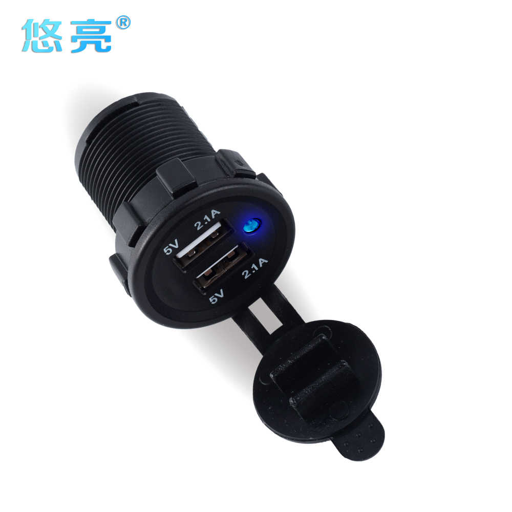Individuation Smart Dual Port USB Car Charger 5V 4.2A Pure Copper USB Fast And Stable Mobile Phone Car Charger For Personalise