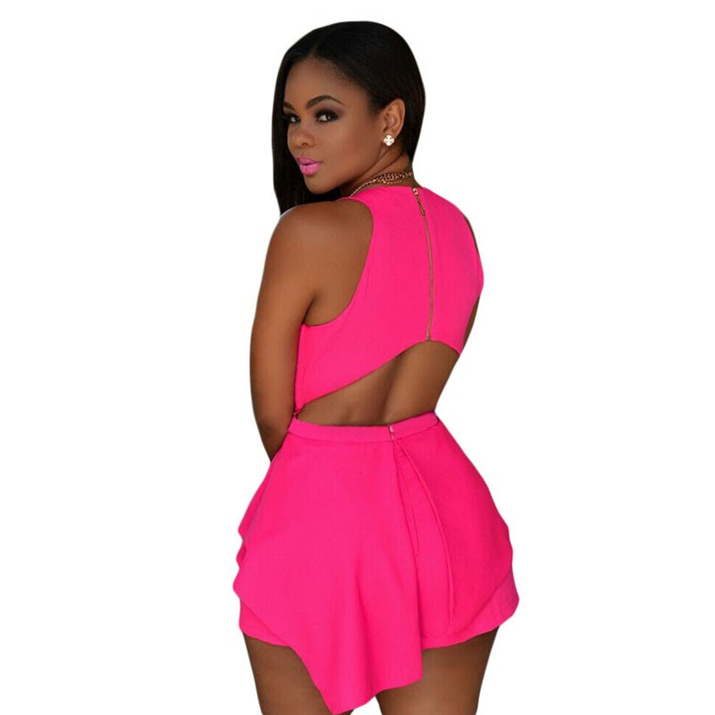 Pink-Sleeveless-Peplum-Romper-LC60547-1-2