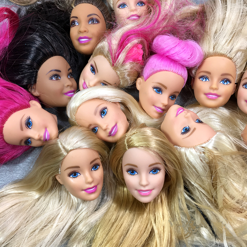 Random 5 pcs Doll Head for Barbie doll Original Doll head for 11 inches doll 3 pcs